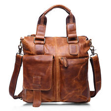 Leather Men's Business Briefcase Handbag Laptop Shoulder Messenger Satchel Bags