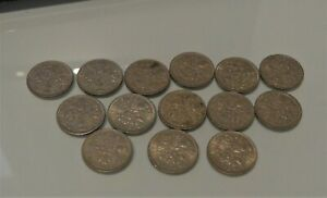 Sixpence Coins x 14 1953-1966 British