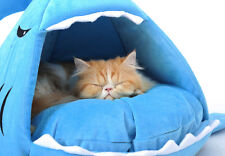 Shark Dog Cat Pet Canopy Teepee Tent House Bed Kennel With on-sale Cooling Pad