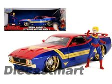 Jada 1:24 Hollywood Rides 1973 Ford Mustang Mach 1 & Captain Marvel 31193 Model