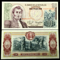 Colombia 10 Peso 1980 Banknote World Paper Money UNC Currency Bill Note