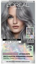 L'Oreal Paris Feria Multi-Faceted Shimmering Permanent Hair Color, S1 Smokey Sil