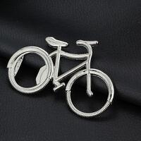 1 Pcs Metal Bike Key Chain Ring Keychain Bicycle Beer Bottle Opener Pop* T Hs