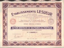 DECO => Etablissements LESUEUR (art déco) (U)