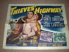 THIEVES HIGHWAY RICHARD CONTE NOIR HALF SHEET