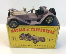 Matchbox Models Of Yesteryear Mercer 1913 Raceabout Type 35J Y-7 Boxed