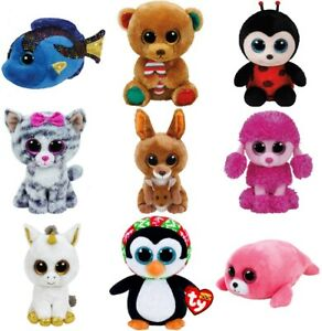 "Ty Beanie Boos regular 6"" or 15 CM - Buy Lot of 2 or 3 - Regular"