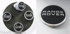 Genuine Range Rover / Sport / Evoque Style Wheel Center and Valve Stem Caps Set