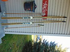 New listing vintage/wooden skis   75  long   with pole nice       nice   # 3744