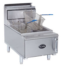 New 25 Lb Counter Top Fryer Gas Royal Rcf 25 2026 Commercial Food Deep Fat Nsf