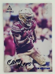 2020 Panini Luminance 51/99 Cam Akers Parallel Card