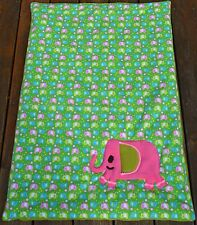 Krabbeldecke Babydecke Kuscheldecke Decke Geburt Taufe Elefant ca. 100 cm x 70cm