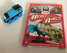 Thomas & Friends Hero of the Rails Dvd and Wooden Thomas Train - brand new