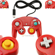 Classic Red Shock Game Controller Video Pad for Nintendo Gamecube GC Wii New