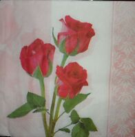 4 x Single Paper Napkins Decoupage Crafting  Party Flowers Pattern 11
