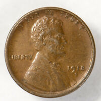 1918-D 1c LINCOLN WHEAT SMALL CENT, HIGH-GRADE COIN LOT#Q201