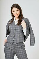 Women's 4 Piece Checked Formal Skirt/Trouser Workwear Suit Size(6-12)