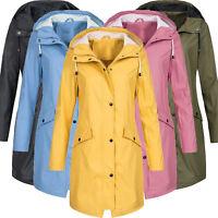 Women's Ladies Raincoat Waterproof Outdoor Rain Wind Forest Mac Coat Jacket Tops