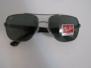 New No Tag/NO Box Ray-Ban RB3483 004/71 Gunmetal Black frame Square Sunglasses