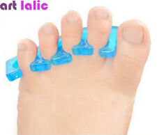 1 Pair Reusable Soft Silicon Toe Finger Separator for Nail Art Manicure Polish