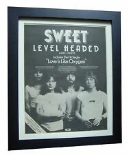 SWEET+Level Headed+Oxygen+POSTER+AD+RARE ORIGINAL 1978+FRAMED+FAST GLOBAL SHIP