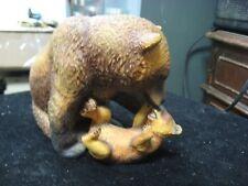 1984 Wildlife Federation Mother's Pride Bear Porcelain Figurine Nicholas Wilson