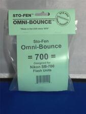Sto-Fen Omni-Bounce 700 Diffuser fits Nikon SB-700 Flashes Stofen -Free  Ship