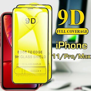 2 PELLICOLA VETRO TEMPERATO PER APPLE IPHONE XR/11/X/XS/11PRO/MAX 9D TOTALE