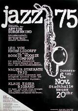 JAZZ FESTIVAL - 1975 - Tourplakat - Concert - Tourposter - Neuss