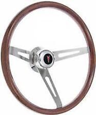 Pontiac Firebird/Gto Steering Wheel Kit, Light Wood, Polished Hub Red Arrowhead