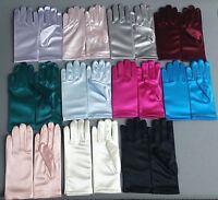 NEW Tip Top Kids Girls Communion Baptism Satin Short Wrist Finger Party Gloves