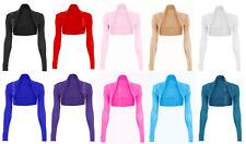 Womens Long Sleeved Bolero Shrug Jacket Top Ladies Cardigan Size 8-26