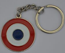 French Airforce Roundel Cocarde Tricolore Target Quality Enamel Keyring