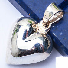 """Solid Heart .925 Sterling Silver Pendant .75"""""""