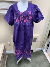 Anthony Richards 1x Purple Flowered Polyester/ Cotton Dress