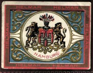 Helmar Cigarettes, STATE SEALS & NATIONAL COATS OF ARMS, T107, 1910, Hamburg