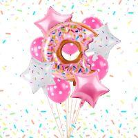 35PCs Donut Balloons Set Banner Cake Topper Baby Shower 1st Birthday Party Decor