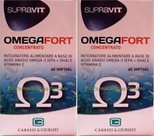 SUPRAVIT OMEGAFORT 60 SOFTGEL OMEGA 3 -2 CONFEZIONI fino a 4 mesi di trattamento