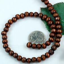 """10x9mm Natural Wood Rondelle Beads 15"""" (WO46)a"""