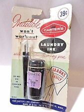 Carter'S Indelible Laundry Ink In Original Package With Smooth Writing Pen 1958