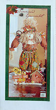 """COSTCO HARVEST TIME SCARECROW ORANGE SHIRT DECORATION 39"""" TALL NEW IN BOX"""