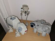 More details for star wars scout walker at-st 1982, at-at 2016 & millemium falcon 2011 lucasfilm