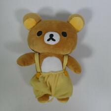 More details for rare san-x rilakkuma 2016 8' japan japanese bear yellow dungarees plush toy