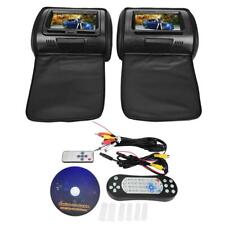 "7"" Car Digital Screen Headrest DVD Video Player Monitor with Zipper Cover UK"