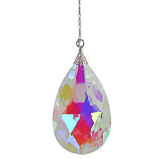 "Kirks Folly 35th Anniversary Faceted Crystal Ab Teardrop Ornament 5-1/2"" L X 3"""