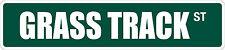 """*Aluminum* Ragrass Track 4"""" x 18"""" Metal Novelty Street Sign Ss 2985"""
