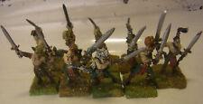 GW WFB Warhammer Fantasy Waldelfen 9 Wardancer Zinn Miniaturen