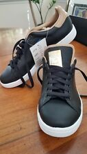 Adidas black leather  men's shoes 8.5 Stan Smith