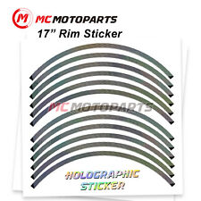 17'' Rim Rainbow Holographic Wheel Sticker For Ducati Monster 797 750 821(Fits: Ducati GT)