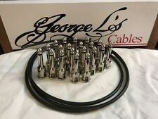George L's IDEAL Pedalboard .155 Solderless Cable Kit 20 Plugs & 5 Foot - BLACK